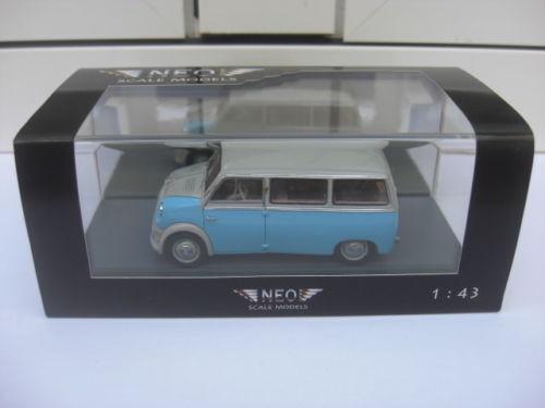 Lloyd LT500 1955 pale bluee bluee bluee grey top NEO 43870 MIB 1 43 goggomobil tatra isetta 40a0d5