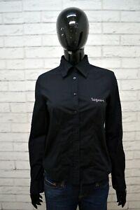 Camicia-Nera-Donna-ICEBERG-Taglia-42-S-Maglia-Manica-Lunga-Shirt-Woman