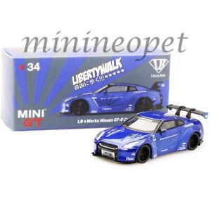 MINI-GT-MGT00034-LIBERTY-WALK-LB-WORKS-NISMO-NISSAN-SKYLINE-GT-R-R35-1-64-BLUE