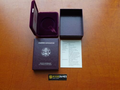 NO COIN 1993 P PROOF SILVER EAGLE BOX//COA OGP ONLY BUY 2 GET 1 FREE!