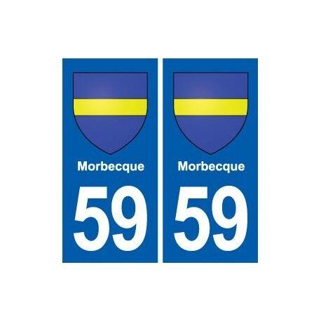 59 Morbecque blason autocollant plaque stickers ville droits