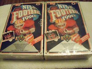 TWO-1991-Upper-Deck-FACTORY-SEALED-Football-Box-HOF-Montana-Marino-Favre-Premier