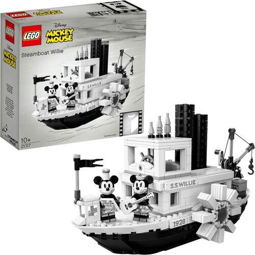 LEGO IDEAS CUUSOO 21317 DISNEY MICKIE MOUSE  STEAMBOAT WILLIE  SHIP MINNIE CRANE