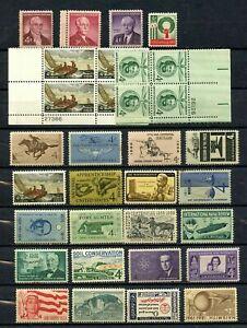 Lot de 32 quatre cent timbres-Unique 24 TIMBRES & deux Playe BLOCS-très fine-Original Gum-neuf sans charnière