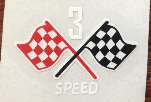 Custom Schwinn 3 Speed Cruiser /& Stingray Flag Vinyl Decal Corvette American