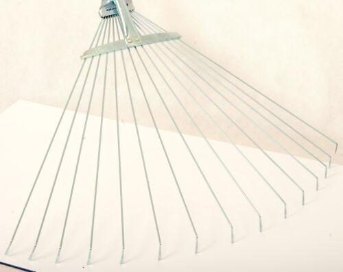 Fan-Rake Leaf Rake Garden Rake Wire Broom Adjustable Metal Handle B/_W120