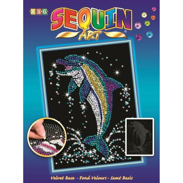 Sequin Art Dolphin Full Colour Craft Art Design (SEQ015161)