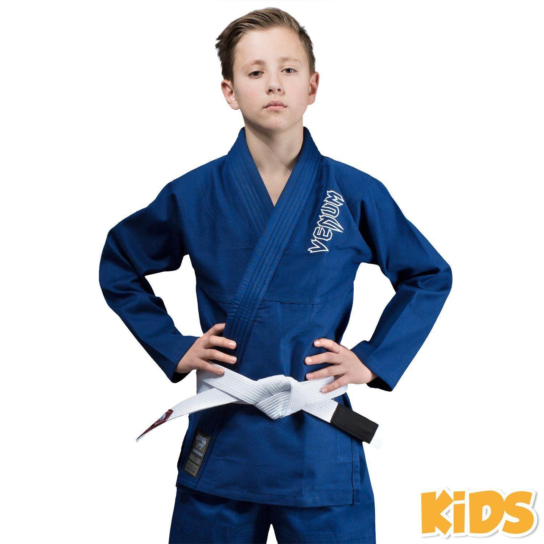 Venum Contender Bambini Bjj Gi Blu Uniforme Bambini Ju Jitsu Ideale Jiu Kimono