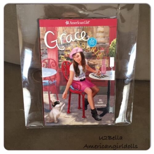 AMERICAN GIRL CLEAR Plastic book HOLDER FOR BOX  book not included W// storage