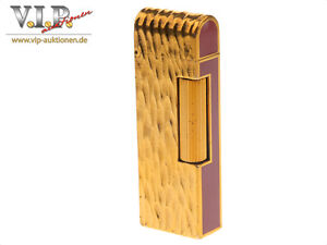 DUNHILL-ROLLAGAS-BRIQUET-GAS-FEUERZEUG-GOLD-amp-CHINESE-LACQUER-LIGHTER-ACCENDINO