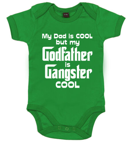 "Baby Pate Body /"" Dad Cool Pate Gangster /"" Lustig Taufe Geschenk"