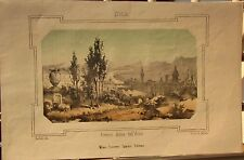 1863 FIRENZE DIVISA DALL'ARNO litografia Pagnoni Barbieri Terzaghi Toscana