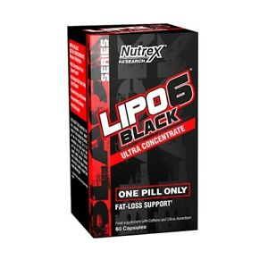 NUTREX-LIPO-6-BLACK-ULTRA-CONCENTRATE-60-CAPS-FAT-BURNER-WEIGHT-LOSS