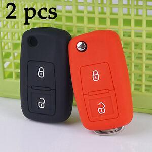 2pcs-Silicon-Key-Cover-Case-For-VW-Volkswagen-Passat-Polo-Golf-Touran-Bora-Jetta