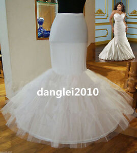 Image Is Loading Plus Waist Fishtail Mermaid Skirt Wedding Dress Crinoline