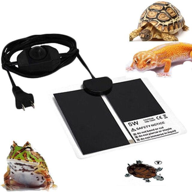 5W Reptile Heater Adjustable Temperature Heat Mat Pet Heating Warmer Pad