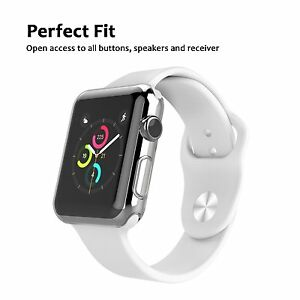 finest selection 77301 8bb8b Details about Screen Protector Clear Case Rugged Gel TPU Corner Cover  Bumper For Apple iWatch