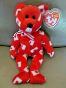 TY BEANIE BABY HIKARI the BEAR (BLK NOSE) - JAPAN EXCLUSIVE - MWMTs & Protector