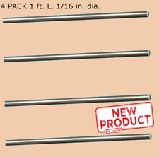 4 Pack Stainless Steel Spring Round Stock 116 Inch X 1 Feet 302 Alloy Rods New