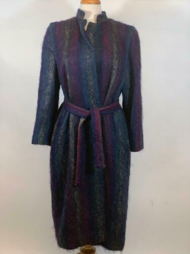 PAULINE TRIGERE Vintage Mohair Coat Blue Purple Wo