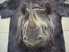The Wilds Safari Park Rhinoceros Mountain Apparel Souvenir Gray T Shirt Size M