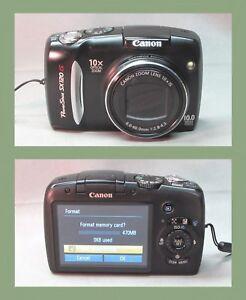 Canon PowerShot SX120 IS 10.0MP Digital Camera Black