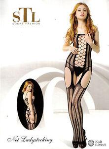Bodystocking Catsuit Body Sexy Lingerie Intimo Tutina Da Donna Aperto Reggicalze Abbigliamento E Accessori