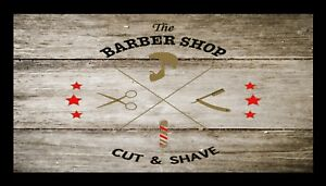 Barber-Shop-Bar-Runner-Counter-Mat-Barbers-Salon-Hairdressing-Rustic-1023