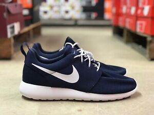 huge selection of 05734 189b2 Image is loading Nike-Roshe-One-Mens-Running-Athletic-Shoes-Navy-