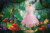 Travis Rosebud Flower Fairy fancy dress up BNWT 4sizes Girls Dance Costume Wings