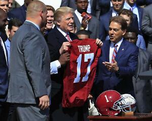 President TRUMP & Nick Saban Alabama Crimson Tide 8 x 10 Photo Picture TEAM