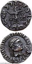 INDO GREEK KINGDOM SILVER DRACHM COIN STRATO I 130-110 BC