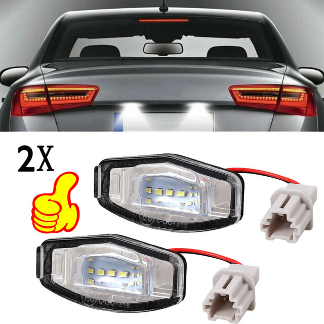 2pcs 18 LED License Plate Light For Acura TL TSX MDX Honda