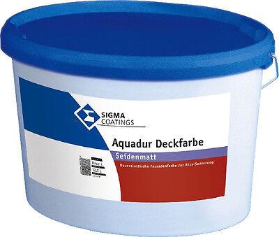 Baustoffe & Holz Sonstige Dauerelastische Fassadenfarbe Billiger Preis Sigma Aquadur Deckfarbe 12,5 Liter Seidenmatt
