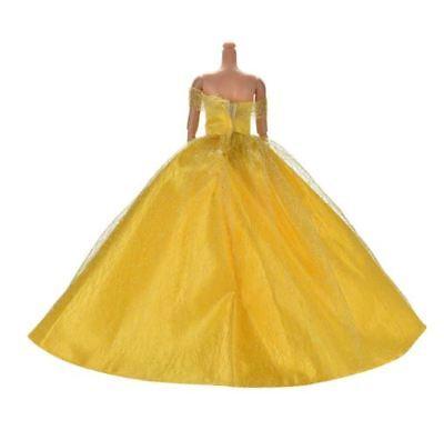 7 COLORS ELEGANT SUMMER CLOTHING GOWN BARBIE DOLL HANDMAKE WEDDING PRINCESS