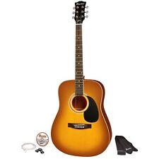 "Full Size Acoustic Guitar Kit Honey Burst 41"" Maestro by Gibson Music MA41BKCH"