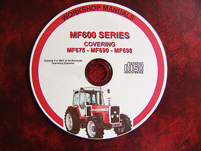 Enthusiastic Massey Ferguson Mf675 Mf690 & Mf698 Pdf Workshop Service Repair Manual Traveling Tractor Manuals & Publications