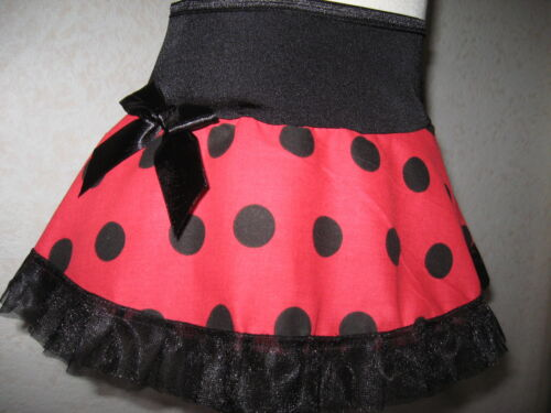 NEW Baby Girls Cute Black Red spotted frilly Tutu Skirt Gothic shower Gift Rock