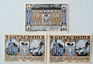 Notgeld-Neheim-an-der-Ruhr-German-Emergency-Money-Complete-Set-Mehl-931-1a-2441