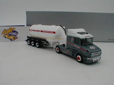 """Scania Hauber Eutersilo /""""Herzer Transporte // Wien/"""" A Herpa 1:87 - 932653"""