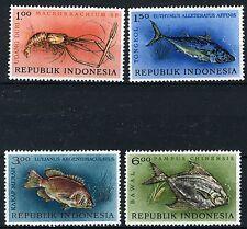 INDONESIE: ZB 391/394 MH* 1963 Inheemse vissen