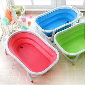 Baby bathtub Folding Bath Tub Blue/Pink/Green