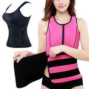 Etats-Unis-chaud-Sweat-Body-Shaper-femmes-Zipper-Slim-Vest-Thermo-Neoprene-Taille-Trainer