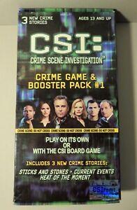 CSI Crime Scene Investigation 2004 Game & Booster Pack #1. Sealed Card Deck