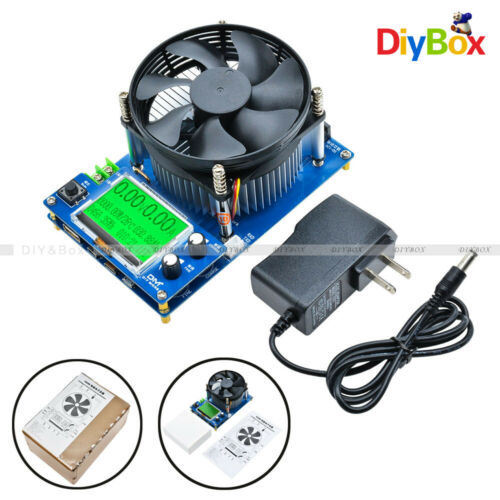 """150V 10A 150W 2.2/"""" Display Intelligent Electronic Load Battery Discharge Tester"""