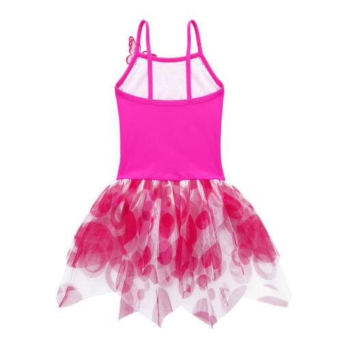 Girls Ballet Dance Tutu Dress Leotard Sequins Skirt Ballerina Dancewear Costumes