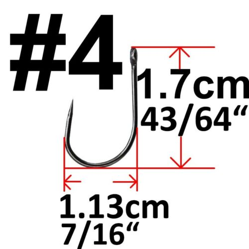 Lot 50x Barbless Eyed Fishing Hooks Coarse match Carp Hook Size 2 4 6 8 10