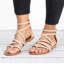 7410c0c424 item 2 Women Gladiator Flat Sandals Casual Summer Beach Y-strap Lace Up  Ankle Shoe Size -Women Gladiator Flat Sandals Casual Summer Beach Y-strap  Lace Up ...