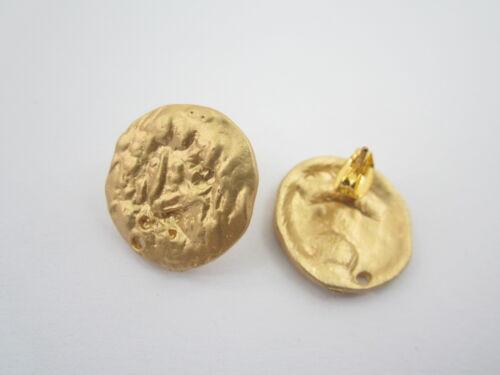19 mm 2 basi x orecchini tonde in zama placcato oro giallo satinato misure diam