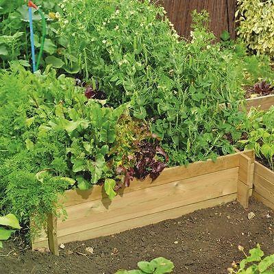Heavy Duty Raised Bed Garden Planter (1m x 1m x 30cm Internal Size FSC Wood)